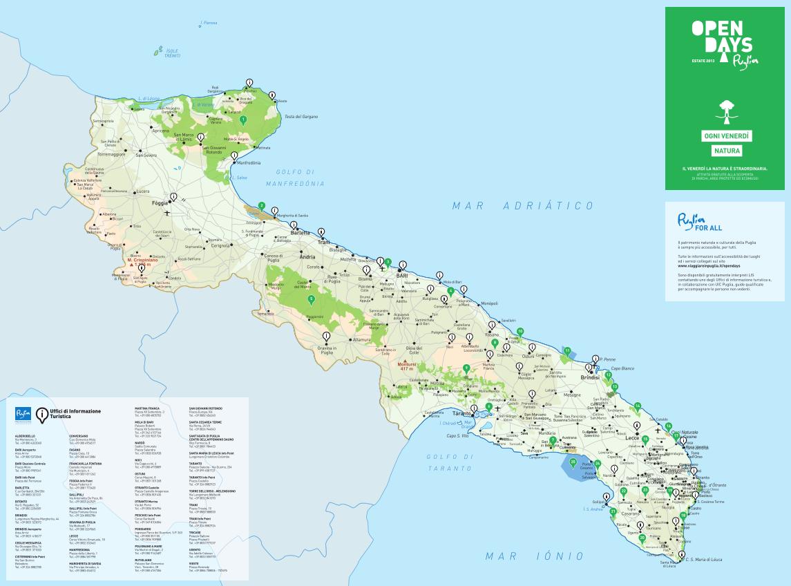 Cartina Puglia Noci.Uffici Di Informazione Turistica